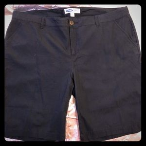 Old Navy Bermuda Shorts Plus Size 20 Navy Blue